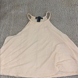 a yellow and white crop top!